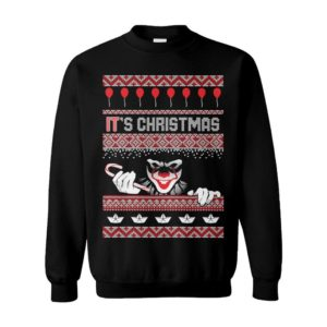 It's Christmas Clown Pennywise Ugly Christmas Sweater