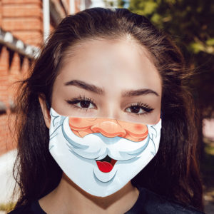 Funny Cartoon Santa Claus Beard Christmas Face Mask
