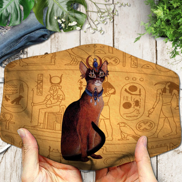 Cat Ancient Egypt Symbol Face Mask