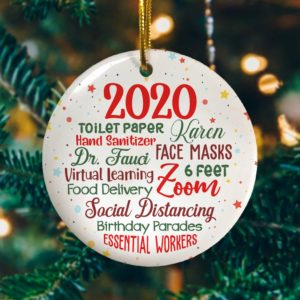 2020 Quarantined Decorative Christmas Ornament - Funny Holiday Gift