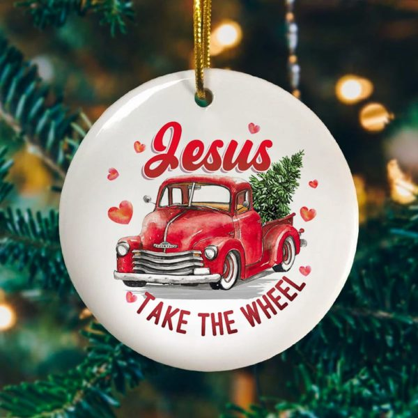 Jesus Take The Wheel Ornament Keepsake Decorative Christmas Ornament - Funny Holiday Gift