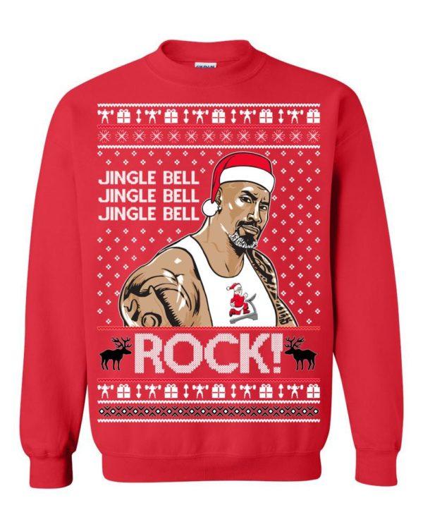 The Rock Jingle Bell Ugly Christmas Sweater
