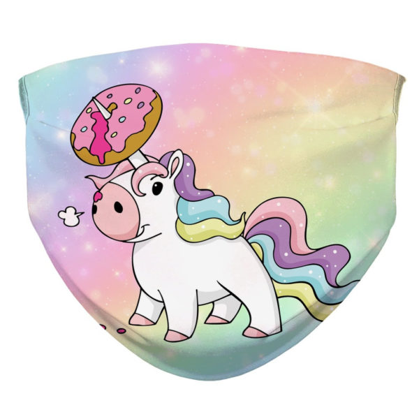 Donut Unicorn Doughnicorn Unicorns Face Mask