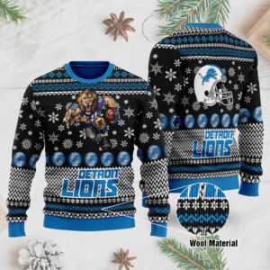 Detroit Lions 3D Printed Ugly Christmas Sweater
