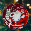 Cool Merry Christmas Santa Claus Ho Ho Ho Ornament - Santas Gift 2020 Decorative Christmas Ornament - Funny Holiday Gift