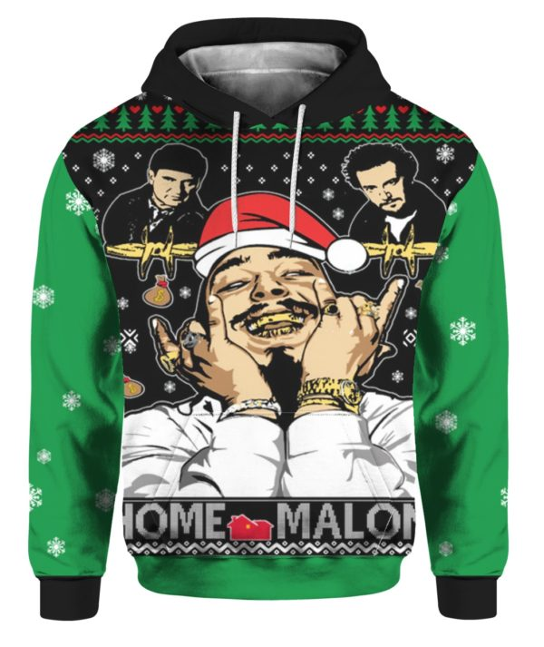 Home Malone Home Alone Post Malone Parody 3D Ugly Christmas Sweater