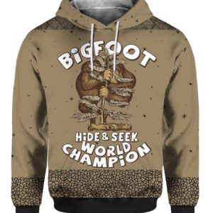 Bigfoot Hide And Seek Champion 3D Ugly Sweater Hoodie