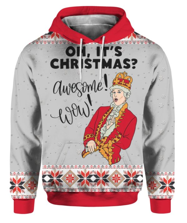 Hamilton King George Musical Oh Its Christmas Awesome Wow 3D Ugly Sweater Hoodie
