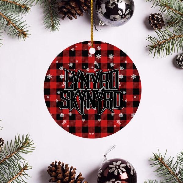Lynyrd Skynyrd Merry Christmas Circle Ornament