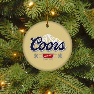 Coors Banquet Merry Christmas Circle Ornament