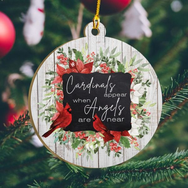 Cardinals Appear Christmas Ornament