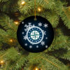 Seattle Mariners Merry Christmas Circle Ornament