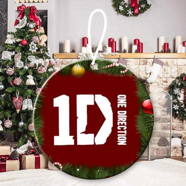 One Direction 9, Niall Horan, Liam Payne, Harry Styles, Louis Tomlinson, Zayn Malik, 1D, pop band, Up All Night Christmas Decorative Ornament