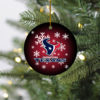 Houston Texans Christmas Merry Christmas Circle Ornament