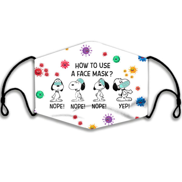Snoopy How To Use A Face Mask Face Mask