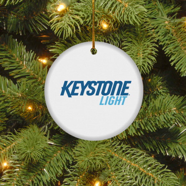 Keystone Light Merry Christmas Circle Ornament