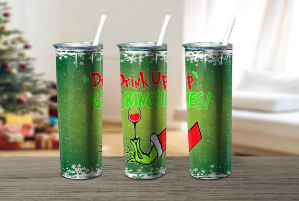 Drink Up Grinches Xmas Skinny Tumbler