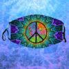 Hippie Symbol Peace Face Mask