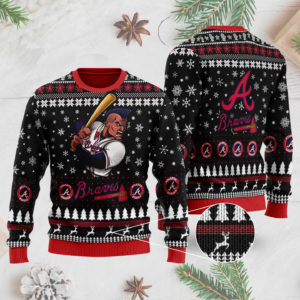 Atlanta Braves 3D Ugly Christmas Sweater