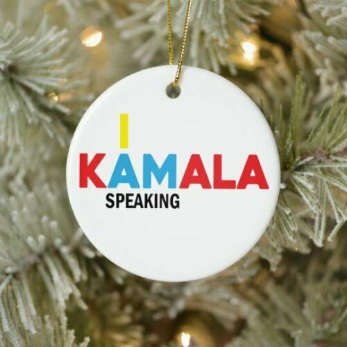Kamala Harris I am Speaking Christmas Ornament 2020 Joe Biden