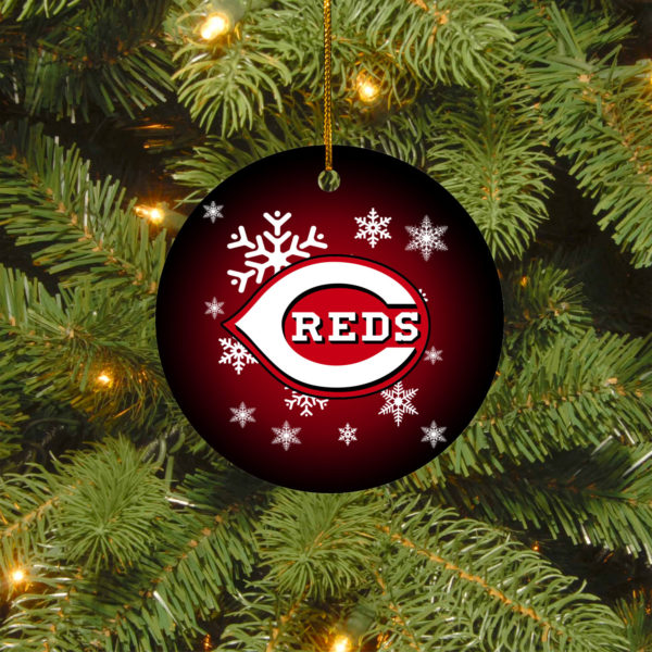 Cincinnati Reds Merry Christmas Circle Ornament