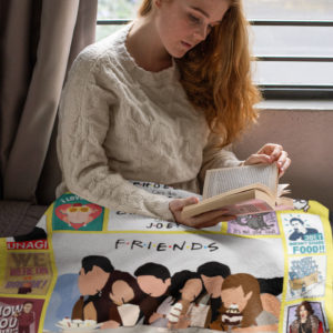 Friends Tv Show American Sitcom Television Series Fleece Blanket, Sherpa Blanket