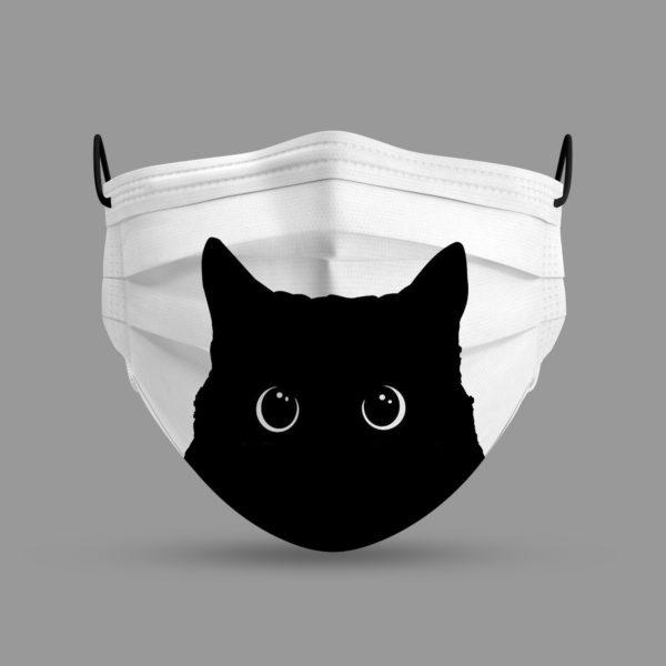 Black Cat Face Mask