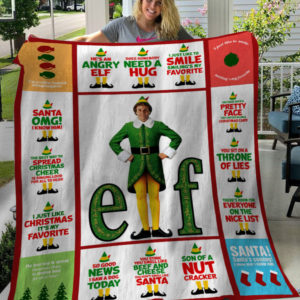 Buddy The Elf Christmas Santa I Know Him Fleece Blanket, Sherpa Blanket
