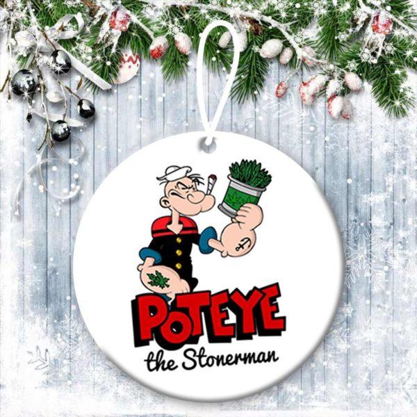 Popeye Christmas Ornaments Funny Holiday Gift