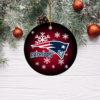 New England Patriots Merry Christmas Circle Ornament