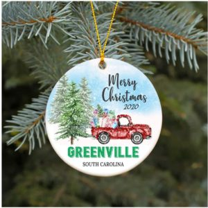 2020 Greenville South Carolina SC Christmas Decoration Ornament