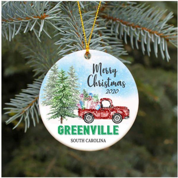2020 Greenville South Carolina SC Christmas Decoration Ornament