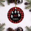 Eagles Band Merry Christmas Circle Ornament