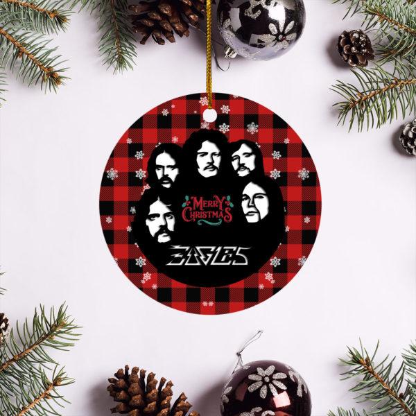Eagles Band Merry Christmas Circle Ornament
