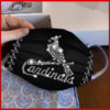 St. Louis Cardinals glitter diamond cloth face mask reusable