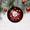 Pittsburgh Steelers Merry Christmas Circle Ornament