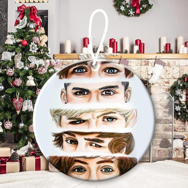 One Direction 6, Niall Horan, Liam Payne, Harry Styles, Louis Tomlinson, Zayn Malik, 1D, pop band, Up All Night Christmas Decorative Ornament