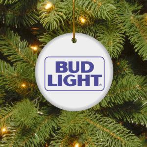 Bud Light Merry Christmas Circle Ornament