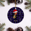 Chuck Berry Merry Christmas Circle Ornament