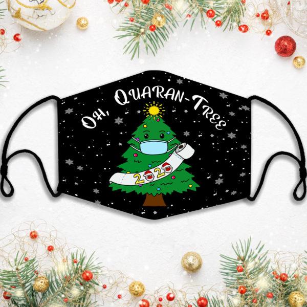 Oh Quarantree 2020 Santa Claus Wearing Face Mask