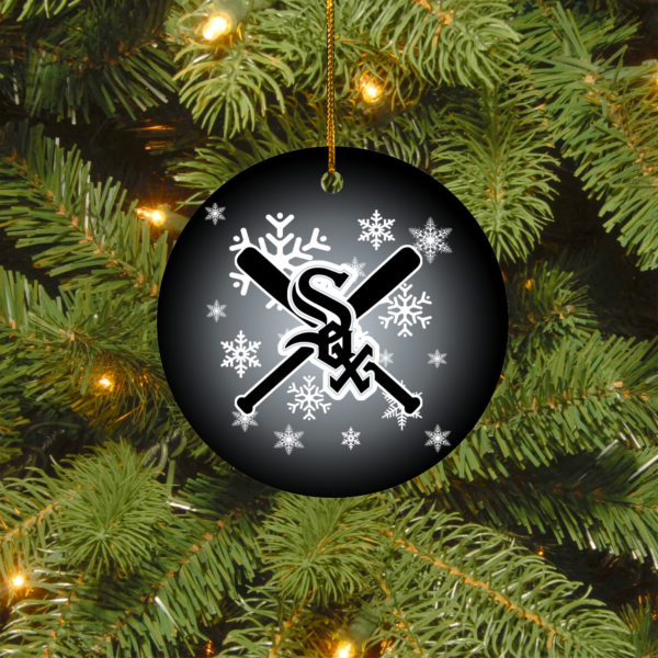Chicago White Sox Merry Christmas Circle Ornament