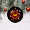 Washington Football Team Merry Christmas Circle Ornament