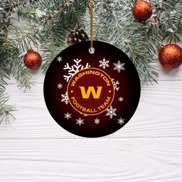 Washington Football Team Merry Christmas Circle Ornament