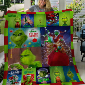 I'm The Grinch Christmas Grinch Fleece Blanket, Sherpa Blanket