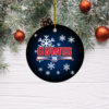 New York Giants Merry Christmas Circle Ornament