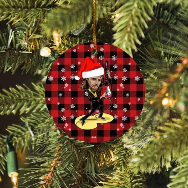 Tom Petty Merry Christmas Circle Ornament