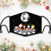 Snoopy And Friends Merry Christmas Face Mask