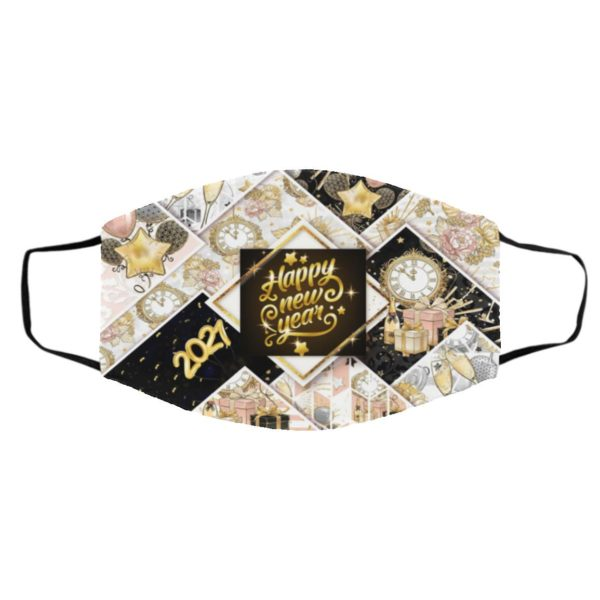 Happy New Year 2021 Face Mask