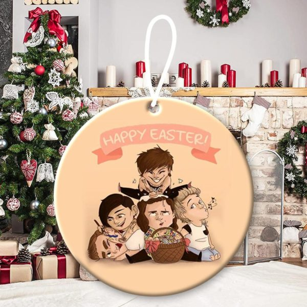One Direction 8, Niall Horan, Liam Payne, Harry Styles, Louis Tomlinson, Zayn Malik, 1D, pop band, Up All Night Christmas Decorative Ornament