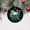 Philadelphia Eagles Merry Christmas Circle Ornament